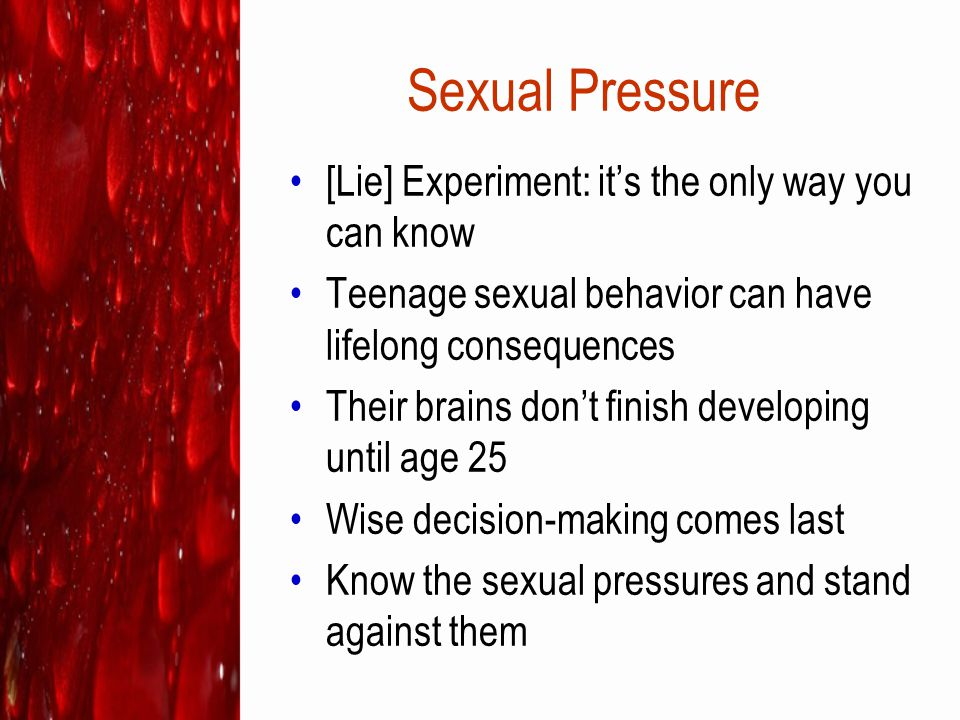 Sexual Pressure [Lie] Experiment: it's the only way you can know